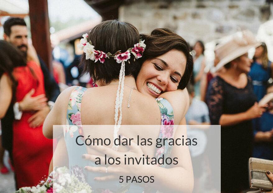 Cómo dar las gracias a los invitados de tu matrimonio: ¡detalles que no olvidarán!