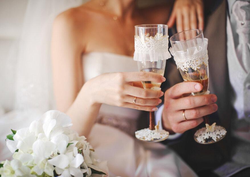 Las bebidas de matrimonio más recomendadas para cada momento de tu boda