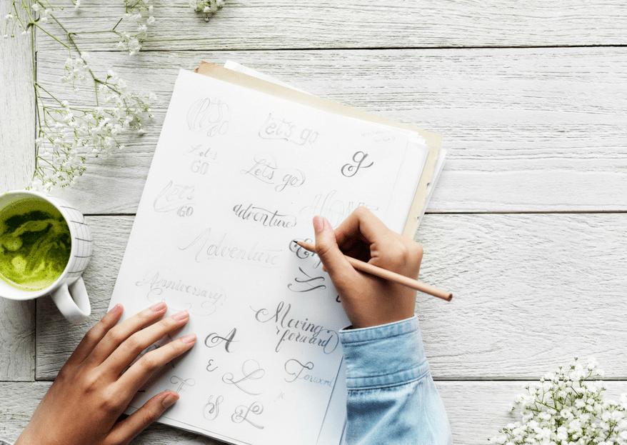 Caligrafía DIY: ¡escribe tus propias invitaciones de boda a mano!