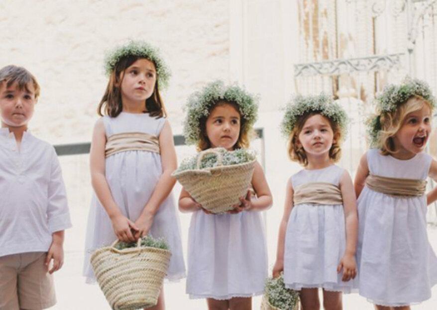 ¿Cómo vestir a los niños en un matrimonio? ¡Consejos para el look infantil!