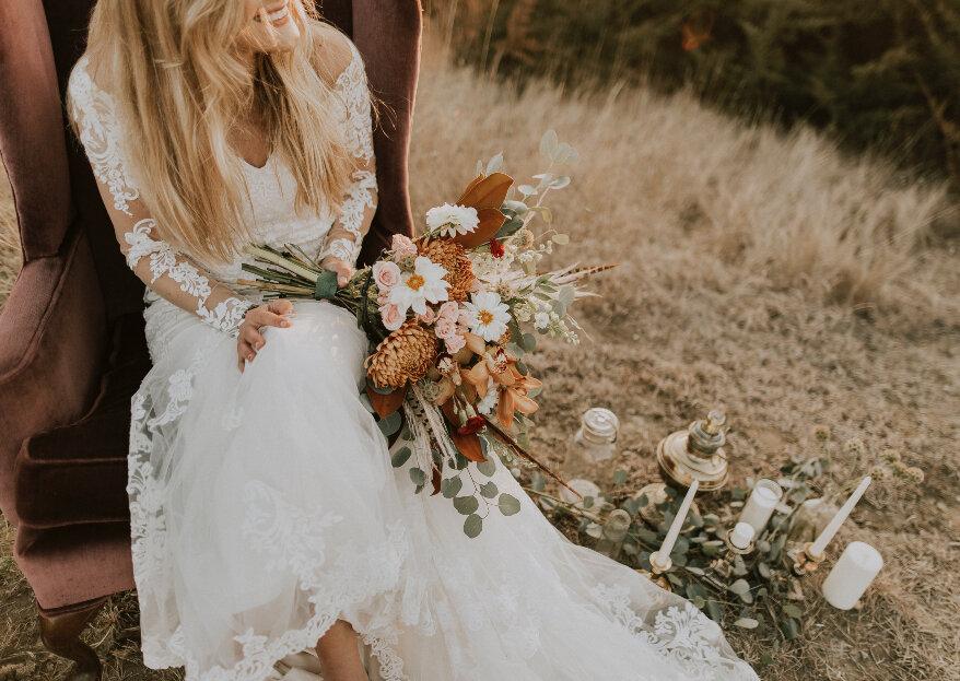 Cómo elegir el bouquet de novia perfecto. ¡5 pasos para lucir el mejor complemento!