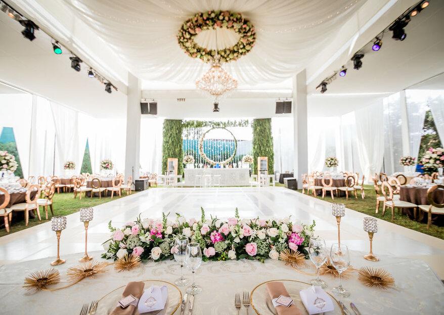 Decoración en rosado y blanco: elegancia y romanticismo en tu boda