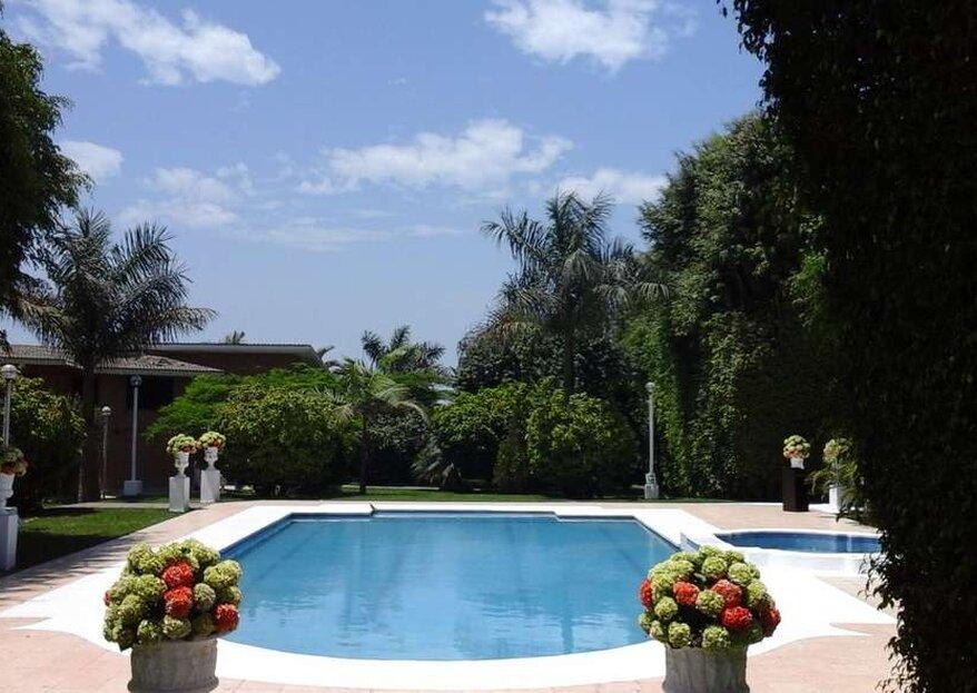 Un paraíso campestre para tu boda, ¿por qué no? Elige Casa Club Pachacamac